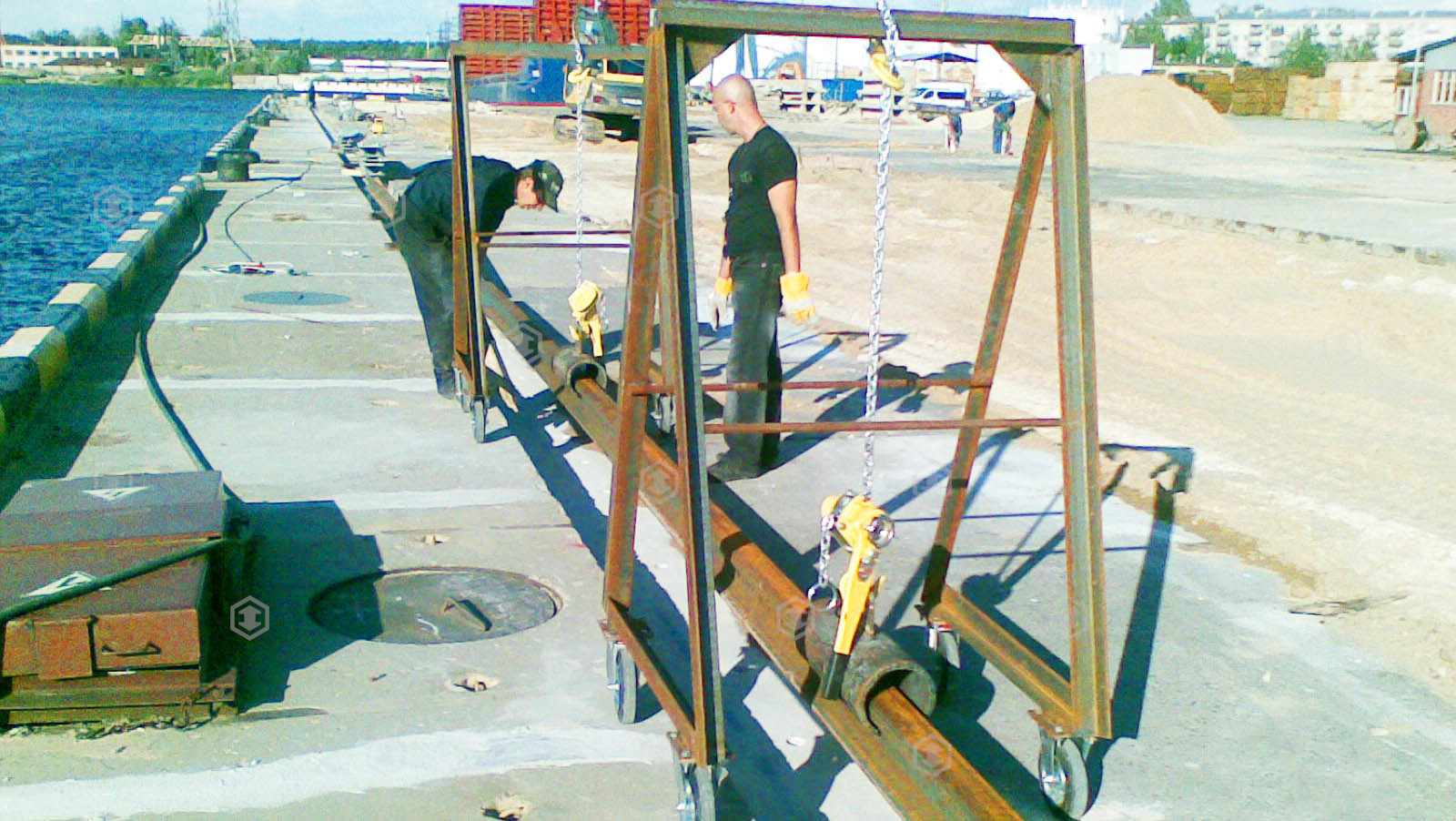 Crane rails mounting and repair services