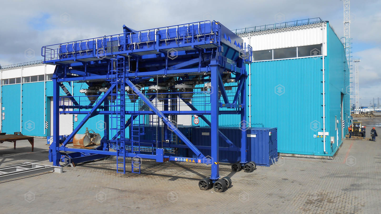 Weigh hopper for sulfur handling. Delivered and integrated at multipurpose terminal YUG-2, In the commercial port of Ust-Luga.